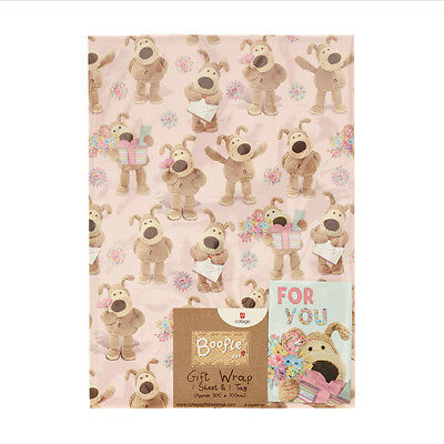 Boofle Wrapping Wrap Paper & Gift Tag - 1 One Sheet