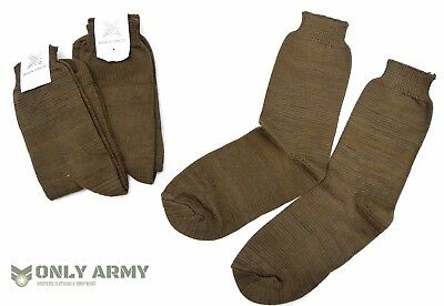 3 x Pairs SLOVAKIAN Army Brown Wool Blend Socks Comfortable & Warm Shoe Boot New