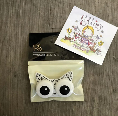 Contact Lens Pot Case Holder Container Cat Kitten Novlety Primark Gift Ladies