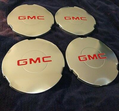 OEM 15712389 Wheel Hub Center Cap Chrome for GMC Sierra 1500 Yukon XL .set of 4