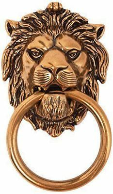 Front Door Knocker Lion Head Vintage Antique Brass 18th Century Italian Style