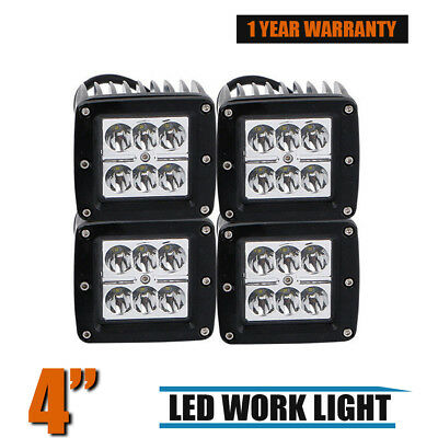 4X 3Inch Cube Led Pods Work Light Bar Offroad Spot Driving Truck Suv Atv 4X4 Utv