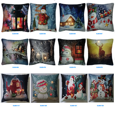 Romantic & Cosy - LED Light-Up Christmas Cushions (Luxury-Velvet)