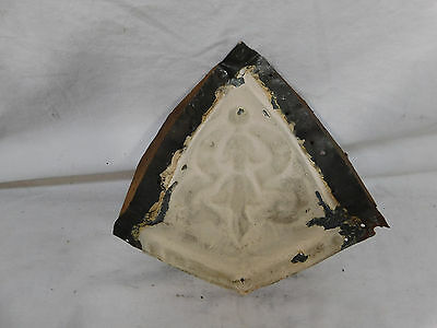 Antique Tin Ceiling Cornice Corner - C. 1890 Ribbon Design Architectural Salvage