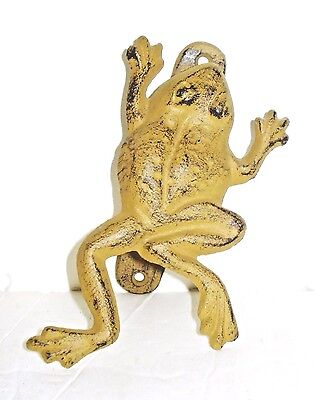 Vintage Cast Iron Frog Figurine Door Knocker Beautiful Design Nr
