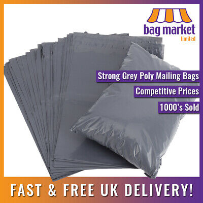 """50 x Grey 9"""" x 12"""" Strong Mailing Bags 