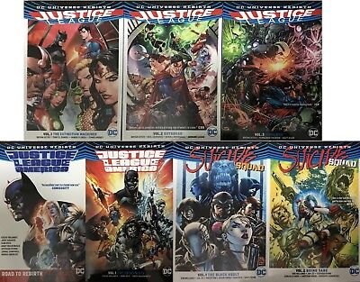 JUSTICE LEAGUE + JLAMERICA + SUICIDE SQUAD 7 TPB trade DC Rebirth collection set