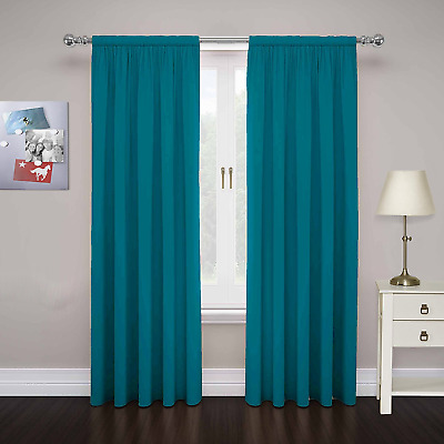 "Pairs To Go Cadenza Microfiber Window Panel ( pair ), 80"" X 63"", Teal"