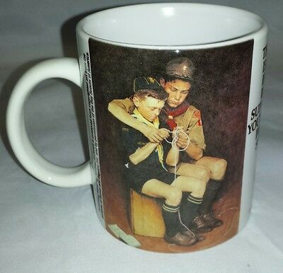 Norman Rockwell Coffee Mug: Boy Scouts of America Cup, A Guiding Hand