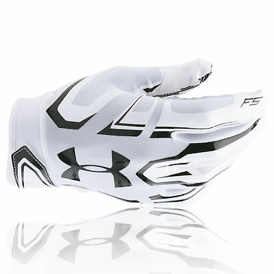 Under Armour  F5 American Football Receiver Handschuhe - weiß/schwarz