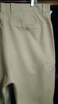 Mens 40/32 Under Armour Performance ~IVORY~ Flat Front Golf Pants