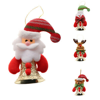 Christmas Santa Claus Bells Ornaments Festival Party Xmas Tree Hanging Decor