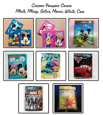 Disney Mickey, Minnie Mouse & Stitch Children's Passport Cover Holder, 1st Class