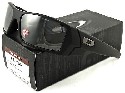 6d1c03920ef NEW Oakley Gascan Sunglasses Matte Black l Black Iridium Polarized 12-856