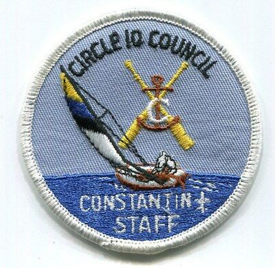 BSA Circle 10 Council Camp Constantin STAFF scout patch - white border - undated