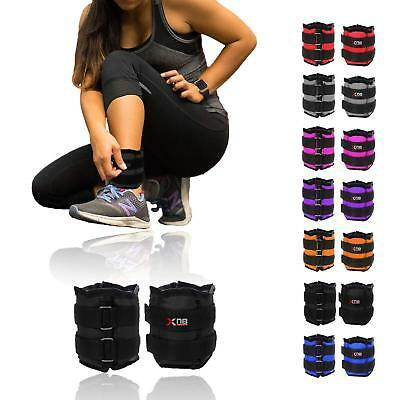 Ankle Weights 1kg pair (0.5kg x 2) Adjustable Leg Wrist Strap Running Exercise