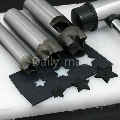 More Size Leather Craft Five-pointed Star Puncher Leather Punch Hollow Hole Tool