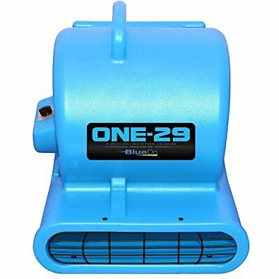BlueDri Portable Fully Stackable Air Mover Carpet Dryer Blower Fan Low Amps Blue