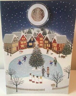 Kew Gardens 50p Christmas Card, Present For Coin Collectors *REDUCED FOR XMAS*