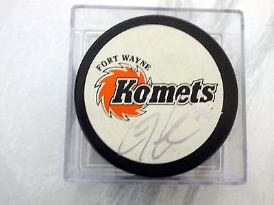 Craig Cescon, Coventry Blaze, Auto'd/signed Puck With Holder.