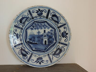 FAIENCE ANCIENNE ASSIETTE DELFT XVIIIEME ANTIQUE DELFT PLATE 18th ceramic