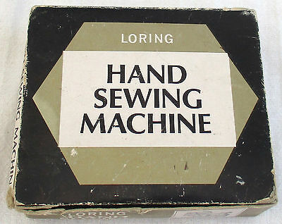 Vintage Loring Plastic Hand Held Sewing Machine with Box