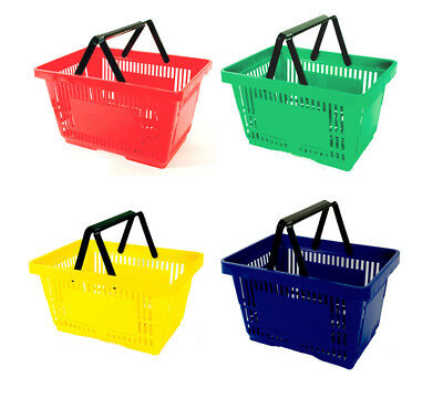 12 NEW Plastic Grocery Convenience Store Shopping Baskets Retail Tote Basket