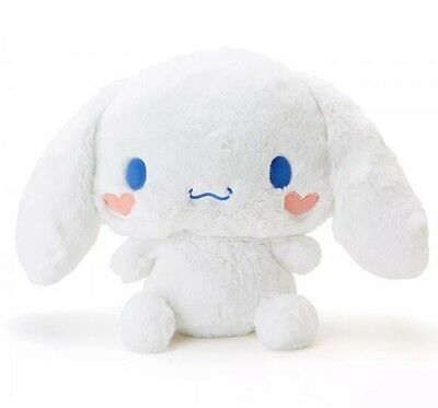 "*Rare* Cinnamoroll Fluffy Plush Doll 11.8"" Cinnamon Roll Heart Cheeks Christmas"