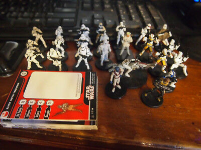 WoTC Star Wars Miniatures lot Cards, Stormtroopers, Clone Troopers, etc rpg