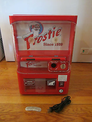 USED Frostie Root Beer Tabletop Mini Vending Machine Fridge - Works!