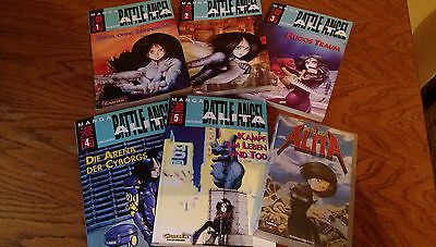 Battle Angel Alita Erstauflage big Format Manga 1-5 + Film