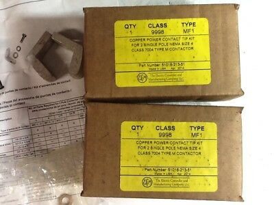 EC&M 51018-213-51 Contact Tip Kit, Size 4, Class 7004 Type M Contactor, Lot of 2