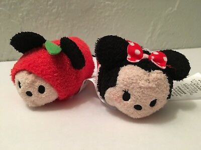 "Disney TSUM TSUM MICKEY & MINNIE NEW YORK CITY Exclusive Mini 3.5"" Plush NO BOX"