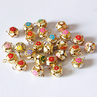 12mm Hollow Pet Dog Bells Small Jingle Bell Fit Festival Jewelry Pendants Decor""