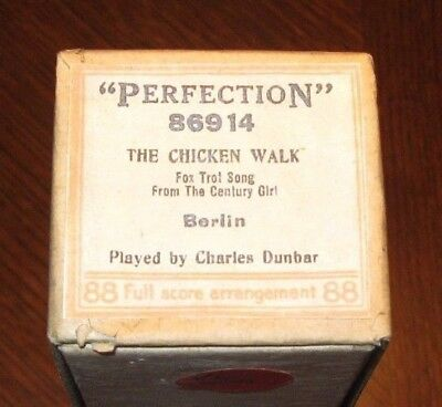 """the Chicken Walk"" Novelty Piano Instrumental Original Old Piano Roll 1117"