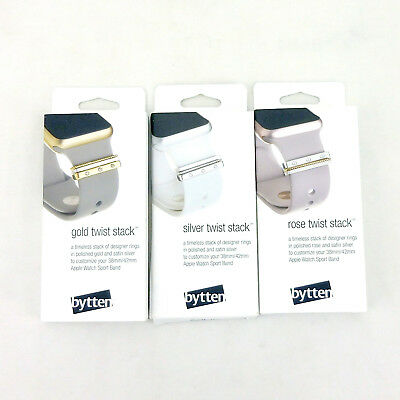 bytten Twist Stack for 38mm/42mm Apple Watch Sport Band Gold, Rose Gold, Silver