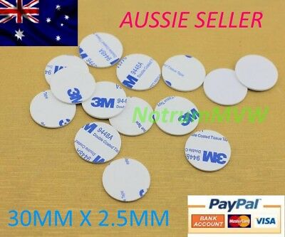 6pcs 3M White Round Double Sided Foam Mounting Pads Adhesive Tape 30mm x 2.5mm