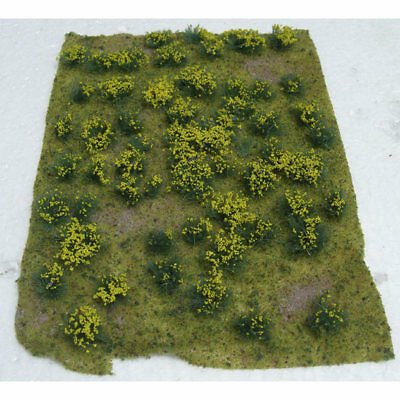 "JTT Miniature Tree - Flowering Meadow Mat -- Yellow 5 x 7""  12.7 x 17.8cm Sheet"