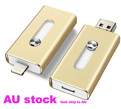 128GB USB i-Flash Drive U Disk Storage For Iphone 5S 6 6S 6 plus 7 7plus IOS 10