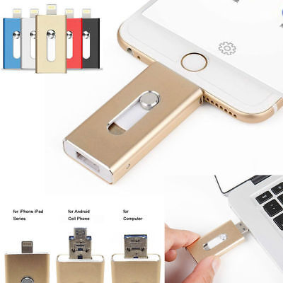 AU 128GB  New OTG Dual USB Memory i Flash Drive U Disk For IOS iPhone iPad/PC