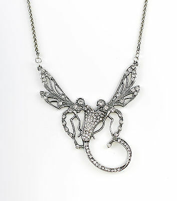 Silver 925 Collier Dragonflies With Swarowski-Stones a1-01123