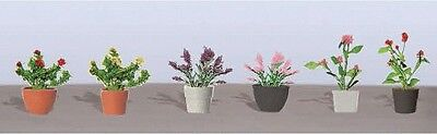 "JTT Scenery Products-Flowering Potted Plants Assortment 1, 5/8"" (6)"
