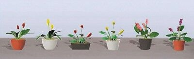 "JTT Scenery Products-Flowering Potted Plants Assortment 3, 5/8"" (6)"