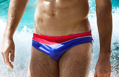 5edae948b2 AussieBum Nylon X-S Style S to XL Mens Swimsuit Brief pick two-color, bulge
