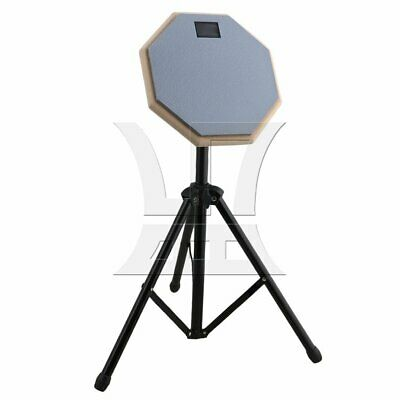 8in Drum Practice Pad with Folding Stand Gray