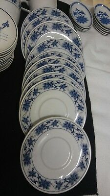 Vintage Great China Blue Lotus and white 32 piece set