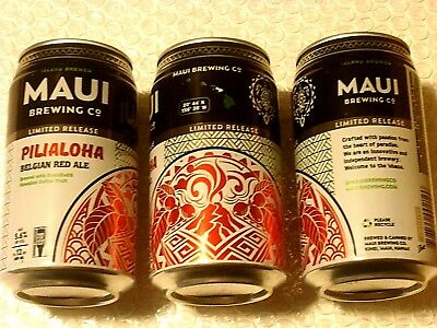 LIMITED RELEASE ~ EMPTY MAUI BREWING PILIALOHA Craft Beer 12oz Can Hawaii  NEW
