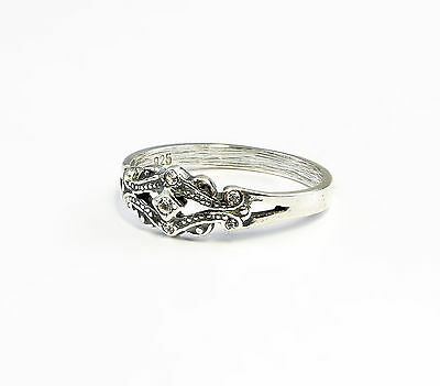 Silver 925 Ring with Swarovski stones Size 53 a9-01044