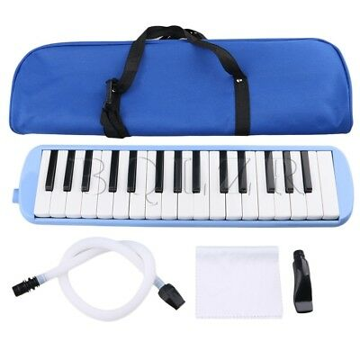 Portable 32 Piano Keys Melodica w/ Carrying Case Blue