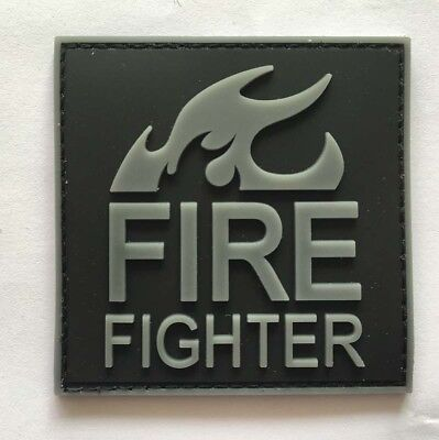 TACTICAL Fire fighter BADGES  ARMY MILITARY PVC rubber HOOK PATCH